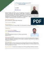 FPM 2017 Batch Profile