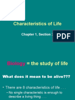 Characteristics of Life Updated