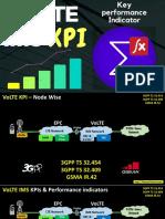 VoLTE KPI Performance - E2E