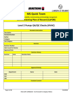 Level 2 M020 Pumps QA-QC Checks
