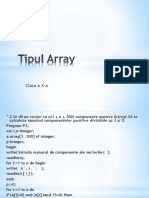 Tipul Array