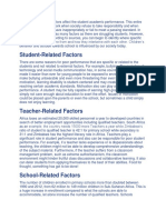 Internal and External Factors Affect the Student Academic Performance