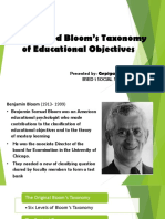 Bloom's Revised Taxonomy of Educational Objectives