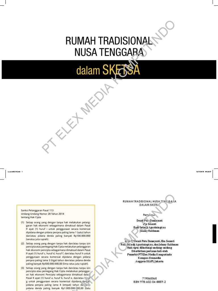 Rumah Tradisional Nusa Tenggara Dalam Sketsa
