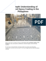 An In-Depth Understanding of Resins and Epoxy Coating in the Philippines