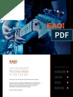 EAO Artist Talent Book September 2019