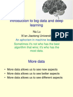 Introduction to Big Data and Deep Learning