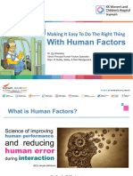 Making It Easy To Do The Right Thing With Human Factors