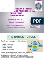 Budgetary System Budget Process of the Philippine Government