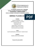 Heladeria Flavors Sac - Gestión Empresarial e Innovacion