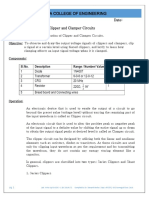 Expt 5 Clipper and Clamper Circuits