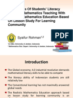 An Analysis of Students' Literacy Ability In