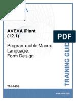 TM-1402 AVEVA Plant (12.1) PML Form Design Rev 3.0