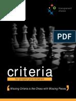 Criteria chess