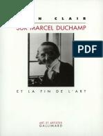 Sur Marcel Duchamp Et La Fin de Lart