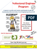 Professional Engineer Program 2019 Flyers