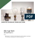 Disruptive Trends in the Near Future (2017-2018)
