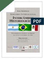 Anais Eletrônicos - Intercâmbios Historiográficos (2016)