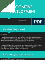 Cognitive Development- Karlo