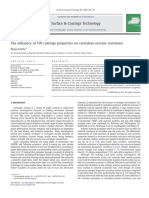 The influence of TiN coatings properties on cavitation erosion resistance