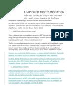 SAP Fixed Assets Migration