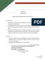 Regulamento Geral de Matriculas e Inscrições Do ISEP_2015