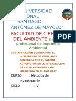 Contaminación Sonora en Huaraz