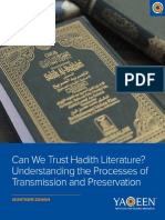 Can We Trust Hadith Literature