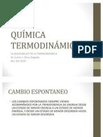 Conferencia 4-Segunda y Tercera Ley de la Termodinámica