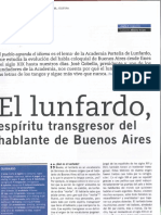 El Lunfardo - Transcript