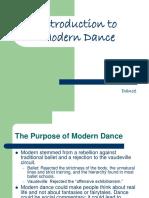Modern Dance Ppt