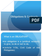 Lecture Slides on Obligations and Contracts