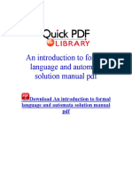 An Introduction to Formal Language and Automata Solution Manual PDF