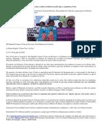 Víctimas de Trata y Tráfico en Bolivia Son Llevadas a Argentina y Perú
