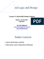 DLD Lecture Ch3B Quine-McCluskey Method