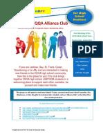 alliance club flyer