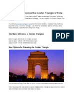 Best Ways to Explore the Golden Triangle of India