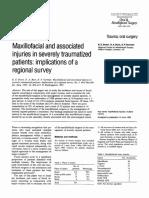 Maxilofacial and associated injuries