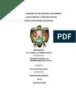 Monografía de Contabilidad General Sobre La Ley de La Carrera Fiscal