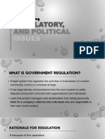 Regulatory and Social Issues