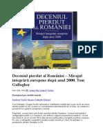 Deceniul Pierdut Al României