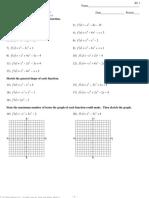 Algebra 2 - Polynomials - End Behavior