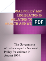 3.National Policy and Legislation in Relation to Child Health and Welfare