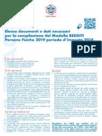 A4 Elenco Documentazione Completo REDDITI PF 2019 Ok Web Colori