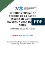Informe Agosto 2019 de IPCVA