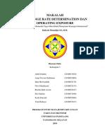 EXCHANGE RATE DETERMINATION DAN OPERATING EXPOSURE
