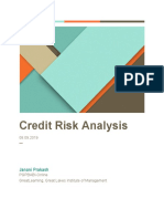 Credit Risk Analysis -Janani Prakash