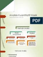 4. Analisis Kuantitatif Klasik