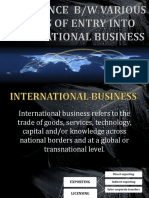 Modes of Entry to International Business (1)