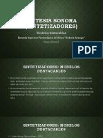 SESIÓN 3 - Sintetizadores